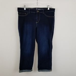 New York & Co Denim Legging Crop Size 14